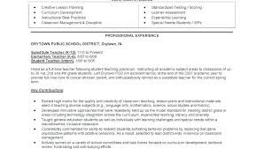 Student Teaching On Resume Gorgeous Math Teacher Resume Objective Statement Examples For Teachers R