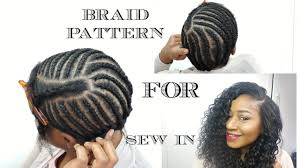 Sew In Braid Pattern Interesting BRAID PATTERN FOR SEW IN WEAVE DIY YouTube