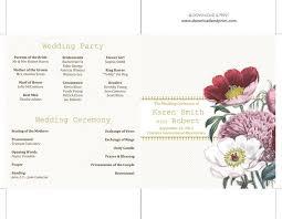 Wedding Programs Template Free 37 Printable Wedding Program Examples Templates