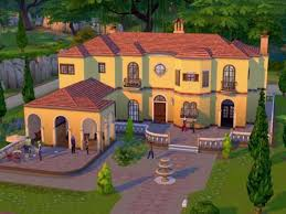 les sims 4 une maison au soleil avec un patio couvert