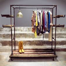 Diy Industrial Coat Rack Impressive Industrial Clothing Racks Diy Industrial Shoe And Coat Rack Inspired