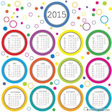 2015 Calendar Printable Free Large Images