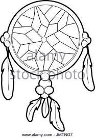 Dream Catcher Outline Dreamcatcher icon outline style Stock Vector Art Illustration 71