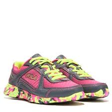 fila running shoes for girls. fila memory ultraloop running shoes girls grey/pink/yellow for