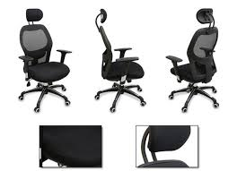 ergonomic mesh office desk chair with adjustable arms. incredible desk chair with back support new mesh ergonomic office w adjustable headrest arms and