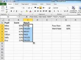 Learning Excel 2010 Using Nested If Statements Tutorial Youtube