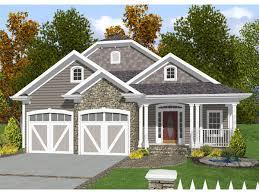 Narrow Lot House Plans   Cottage house plans    Narrow Lot House Plans Front Garage