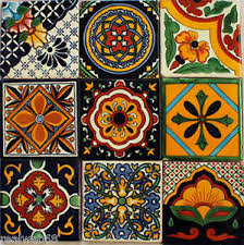 image is loading w140 9 mexican talavera tiles ceramic folk art  on mexican talavera wall art with w140 9 mexican talavera tiles ceramic folk art wall mosaic 4 ebay