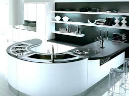 modern curved kitchen island. Contemporary Island Curved Kitchen Island  And Luxury Modern Cool Black White  On Y