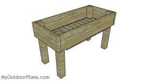 easy elevated planter box plans