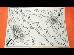 Jika ingin belajar batik tulis, anda dapat menggambar bunga atau dedaunan yang di ulang. Cara Menggambar Bunga Motif Batik 35 Youtube