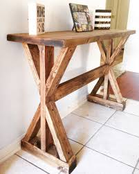 Diy Rustic Sofa Table Rustic X Entryway Table Do It Yourself Home Projects From Ana