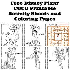 Free disney pixar coco coloring pages for kids and adults. Free Disney Pixar Coco Printable Activity Sheets And Coloring Pages Twin Cities Frugal Mom