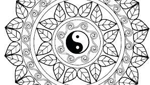 Printable Symmetry Coloring Pages Symmetrical Mandala Sym Tobermeyer