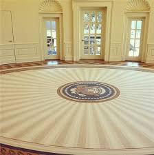 President George W Bushs Oval Office rug with a tasteful sunburst
