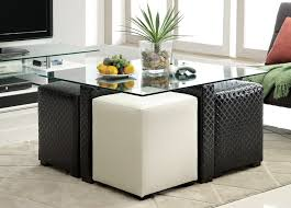 beautiful round coffee table with stools underneath best throughout tables plans 0