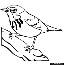 bird coloring pages. Plain Coloring Canada Warbler Coloring Page Intended Bird Pages F