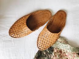 pryanka woven leather mules tan