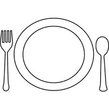 dinner clipart black and white. clip art plate dinner clipart black and white l