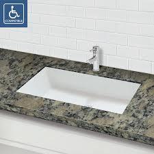 undermount bathroom sinks. sondra solid surface other rectangular undermount bathroom sink with overflow sinks s