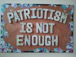 short essay on patriotism is not enough patriotism is not enough