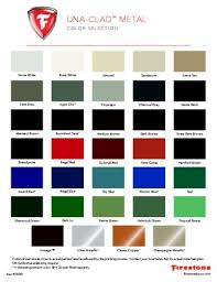 Firestone Metal Products Color Chart Firestone Una Clad Color Chart Best Picture Of Chart