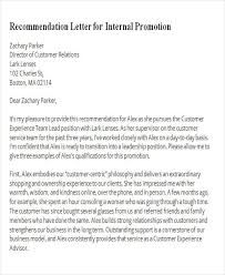 8 Sample Promotion Recommendation Letters Sample Templates