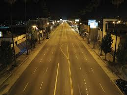 courtesy los angeles bureau of streetlighting with the adoption of led streetlighting l a s nighttime ambiance has transformed from an amber to a bright