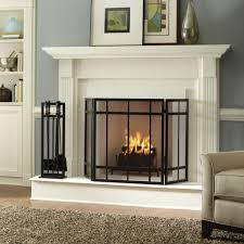 fireplaces accesories black metal and glass fireplace screen fireplace tools white fireplace mantel grey