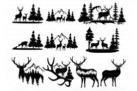 All contents are released under creative commons cc0. Deer Bundle Svg Deer And Mountains Svg Cut Files Wildlife 775132 Cut Files Design Bundles
