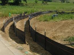silt fences on a construction site used to prevent erosion and storm water runoff runoff control products o78