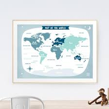 world map wall art australia