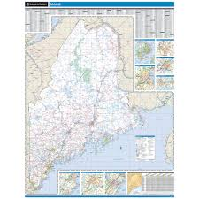 Proseries Wall Map Maine State