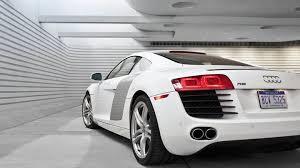 white audi r8 wallpaper. Simple Wallpaper Back Pose Of Audi R8 In White Garage With Wallpaper I