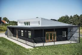 Large Shipping Container Home Plans With Black And Grey Color Scheme In  Denmark