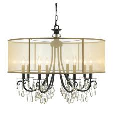 crystal chandelier with sheer drum shade crystal chandelier with pertaining to incredible household crystal chandelier with sheer drum shade prepare