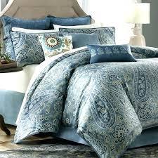 blue comforter sets image of paisley design yellow king