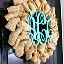 initial wreaths for front doorBest Burlap Wreath With Initial Products on Wanelo