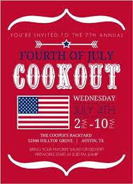 Modern Brackets And Flag Fourth Of July Invitation