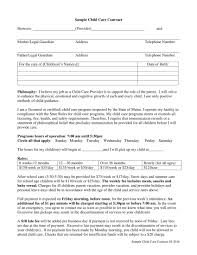 Daycare Contract Template 8 Child Care Contract Example Templates Docs Word Pages