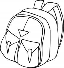 Small Picture Coloring Pages Backpack 09 Education School Free Printable