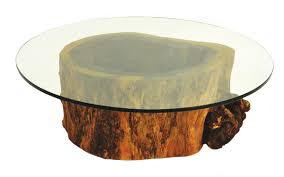Coffee Table Tree Resin Tree Stump Side Table Home And Furnitures Reference