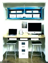 desk small office space desk. Closet Office Ideas Desk In Computer  Inspiring Small Space