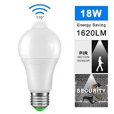 Day And Night Light Sensor Led Bulb Us 2 92 29 Off Ip42 Led Pir Sensor Bulb E27 12w 18w Ac 220v 110v Dusk To Dawn Light Bulb Day Night Light Motion Sensor Lamp For Home Lighting In Led