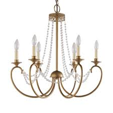 hampton bay estelle 6 light gold hanging chandelier