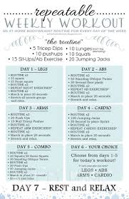 Workout Chart For Weight Gain