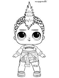 Punk Boi Lol Coloring Page Lol Surprise Doll Coloring Pages Pics To