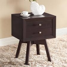 dark brown nightstand. Contemporary Nightstand Amazoncom Baxton Studio Warwick Modern Accent Table And Nightstand Brown  Kitchen U0026 Dining For Dark Brown Nightstand O