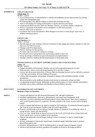 Child Care Resume Samples Velvet Jobs