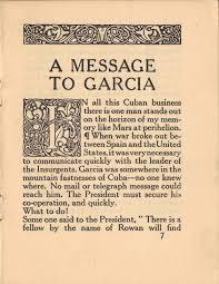 to garcia essay message to garcia essay